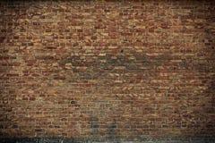 Muro di mattoni vecchio per colore marrone e rosso di struttura o del fondo, Fotografie Stock