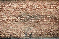 Muro di mattoni vecchio per colore marrone e rosso di struttura o del fondo, Immagine Stock