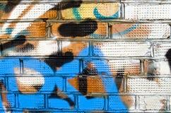 Muro di mattoni verniciato Fotografia Stock Libera da Diritti
