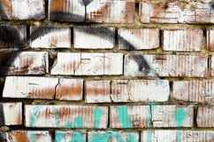 Muro di mattoni verniciato Fotografie Stock