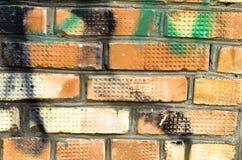 Muro di mattoni verniciato Fotografie Stock Libere da Diritti