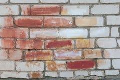 Muro di mattoni verniciato Immagini Stock