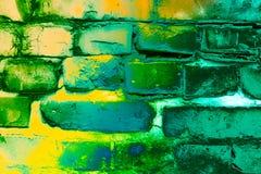 Muro di mattoni verniciato illustrazione di stock