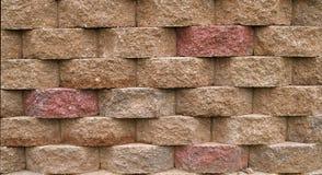 Muro di sostegno del blocco Immagini Stock