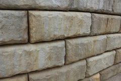 Muro di sostegno della pietra di Hardscaping fotografia stock