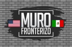 Muro Fronterizo, Border Wall spanish text Stock Photo