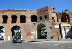 Muro medievale Torto a Roma Immagini Stock Libere da Diritti