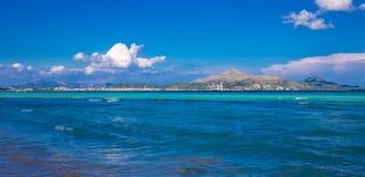 Muro plaża w Mallorca Fotografia Stock