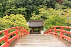 Muroji y el puente arqueado Fotografía de archivo