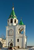 Murom. Bell tower of the Spasskogo monastery Stock Photos