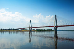 Murom bridge through Oka River Stock Image