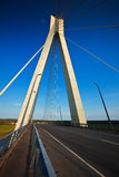 Murom cable bridge through Oka Stock Photos