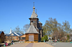 Murom, Russia, May, 02, 2013.  Wooden church of St. Sergius of Radonezh in Holy Trinity monastery in Murom Royalty Free Stock Image