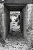 Muros de cemento rectos de una arcón alemana en Lilia, Bretaña, F imagenes de archivo