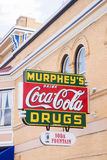 Murphey's Coca Cola, Drugsand soda fountain sign on building Las Stock Images