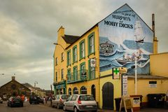 Murphy`s pub. Youghal. Ireland. The Murphy`s pub at the harbour. Film location for Moby-Dick in 1956. Youghal. county Cork. Ireland Stock Images