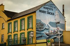 Murphy`s pub. Youghal. Ireland. The Murphy`s pub at the harbour. Film location for MobyDick in 1956. Youghal. county Cork. Ireland Stock Photos