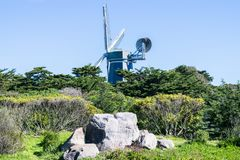 Murphy Windmill South Windmill en el Golden Gate Park en San Francisco, California imagenes de archivo