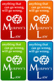 Murphys law. Describing Murphys law: anything that can go wrong, will go wrong Royalty Free Stock Image