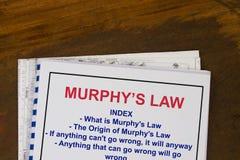 Murphys prawo Obrazy Stock