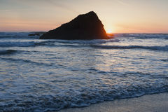 Murphys' Rock, Arch Cape, Oregon. Stock Photo
