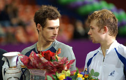 Murray Andy & Golubev Andrey SPb Open 2008 Stock Photo