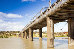 Murray Bridge. Bridge spanning the Murray River in Australia at the town Murray Bridge in South Australia Royalty Free Stock Photo