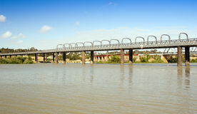 Murray Bridge. Bridge spanning the Murray River in Australia at the town Murray Bridge in South Australia royalty free stock images