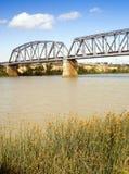 Murray Bridge. Bridge spanning the Murray River in Australia at the town Murray Bridge in South Australia royalty free stock photography