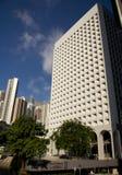 Murray Building Hong Kong Commercial construisant la banque centrale de gratte-ciel d'horizon de place financière d'affaires d'Ad Photos libres de droits