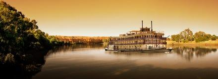 Murray-Fluss Paddlesteamer lizenzfreies stockbild