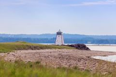 Murray Harbour Range Front Lighthouse no príncipe Edward Island imagem de stock