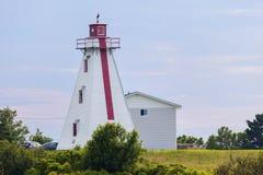 Murray Harbour Range Rear Lighthouse en príncipe Edward Island Imagen de archivo