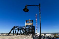 Murray Morgan Bridge bij Haven van Tacoma in de staat van Washington royalty-vrije stock foto