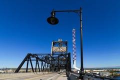 Murray Morgan Bridge en el puerto de Tacoma en el estado de Washington Foto de archivo libre de regalías