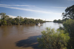 Murray river in flood Royalty Free Stock Photo