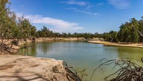 Murray River i nordliga Victoria Royaltyfri Foto