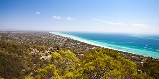 Murray`s Lookout over Mornington Peninsula. Murray`s Lookout on Arthurs Seat Tourist Rd looking over Mornington Peninsula, Victoria, Australia royalty free stock photography