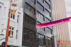 Murray Street Hobart, Tasmanien vektor för illustration för banerjul eps10 Royaltyfri Fotografi