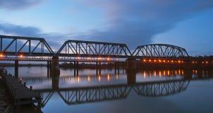 Murraybridge Eisenbahnbrücke Lizenzfreie Stockfotografie