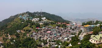 The Murree city, Kashmir Point, Pakistan. Stock Photos