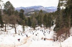 Murree in de winter, Pakistan stock foto's