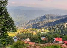 View in Murree Pakistan. Murree is a mountain resort town, located in the Galyat region of the Pir Panjal Range, within the Rawalpindi District of Punjab Royalty Free Stock Photos