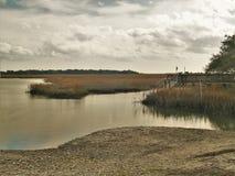 Murrells入口的,南卡罗来纳沼泽 免版税库存图片