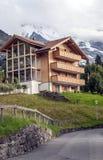 Murren在瑞士阿尔卑斯 免版税库存图片
