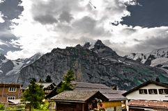 Murren and the Bernese Alps Royalty Free Stock Image