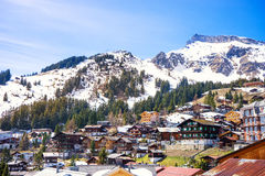 Murren, Jungfrau region, Switzerland. Royalty Free Stock Photos