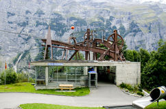 Murren-Stechelberg cable car station Royalty Free Stock Images