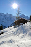 Murren, Swiss skiing resort Royalty Free Stock Photos
