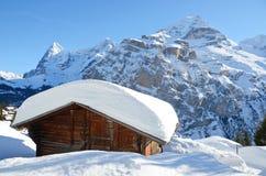 Murren, Swiss skiing resort Royalty Free Stock Photo